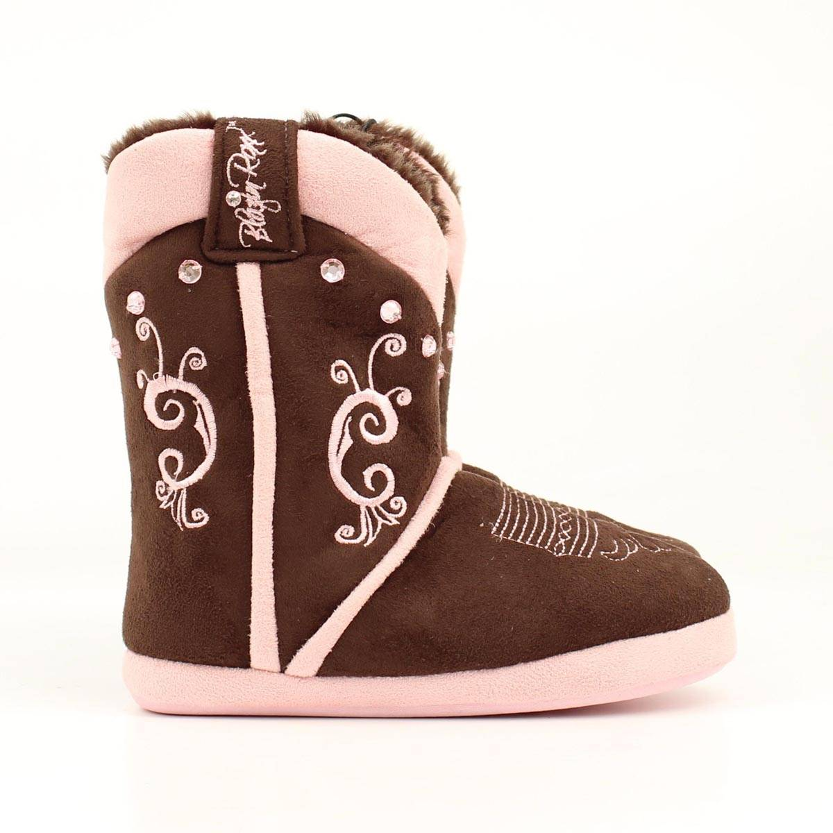 Blazin Roxx Youth Embroidered Crystal Boot Slipper