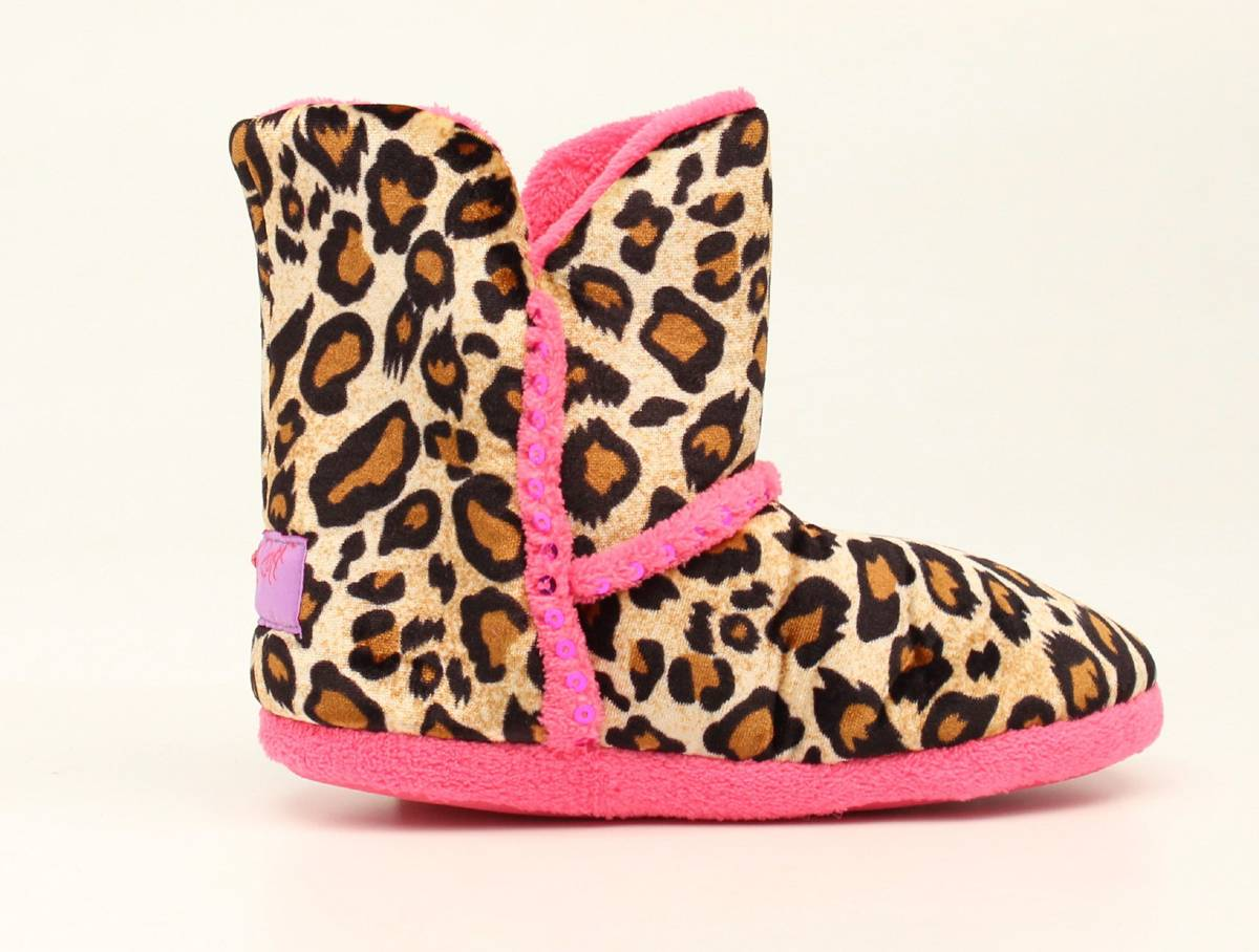 Blazin Roxx Youth Leopard Boot Slipper