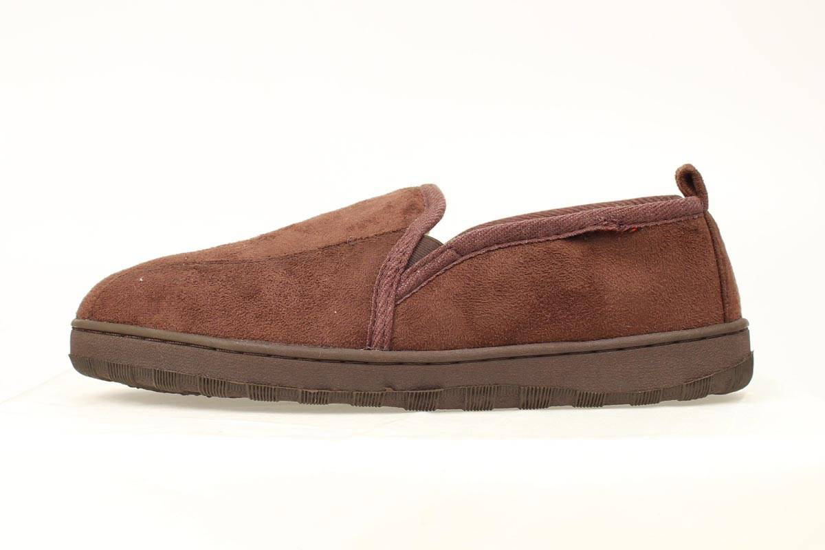 DBL Barrel Men's Fleece Lined Slip On Slippers