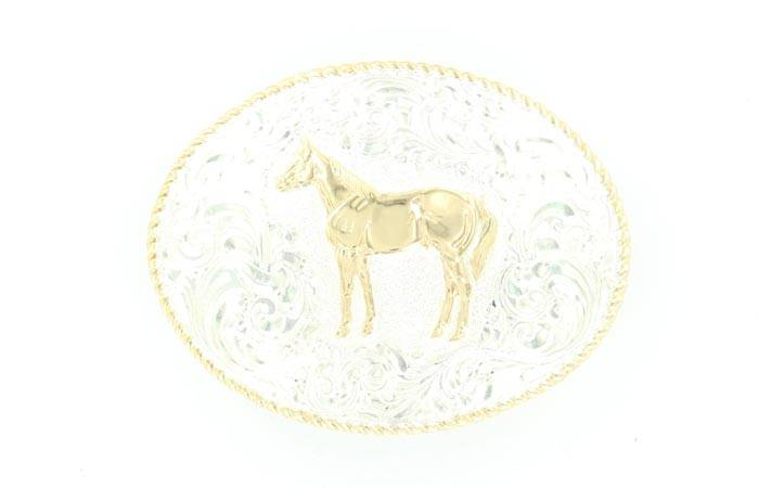 Crumine Standing Quarter Horse Buckle