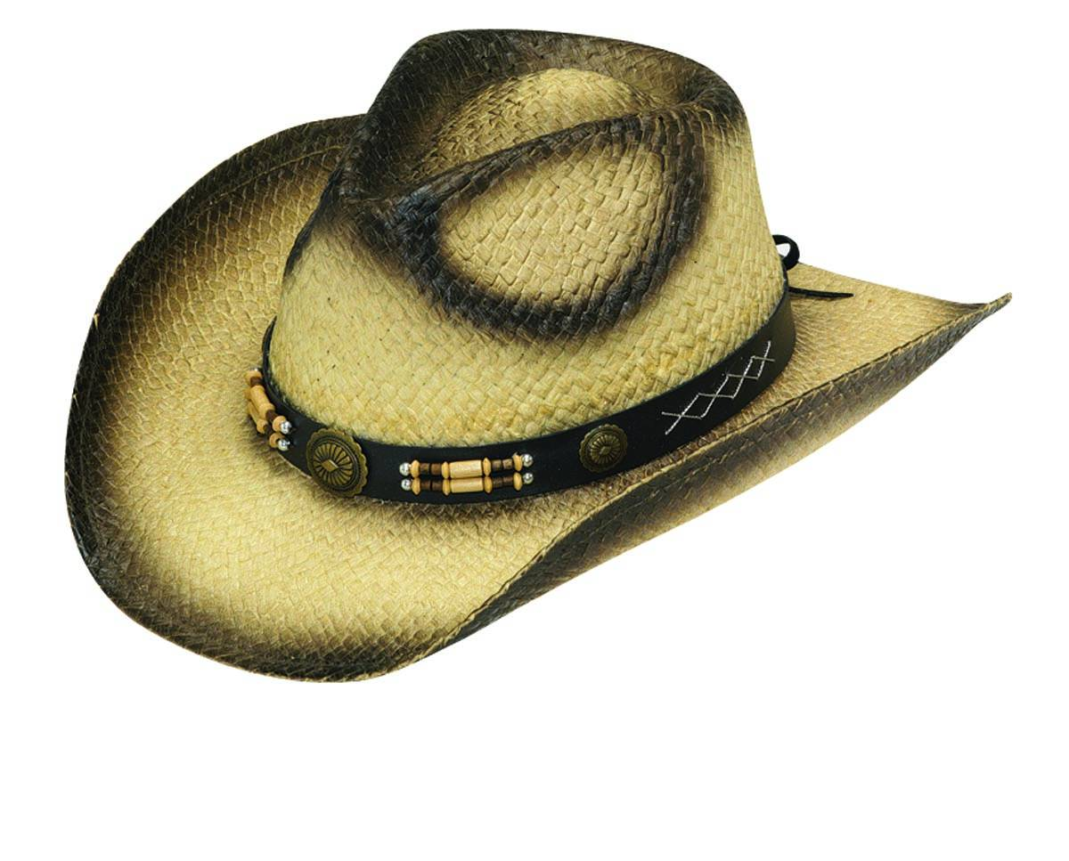 Twister Fashion Wood Bead Band Straw Hat