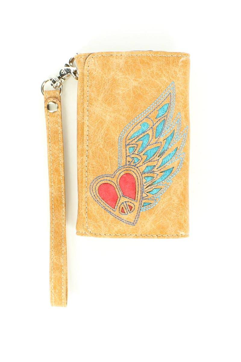 Blazin Roxx Heart/Wing Iphone 4 Wallet