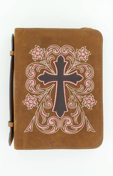 M&F Western Embroidred Cross Bible Cover