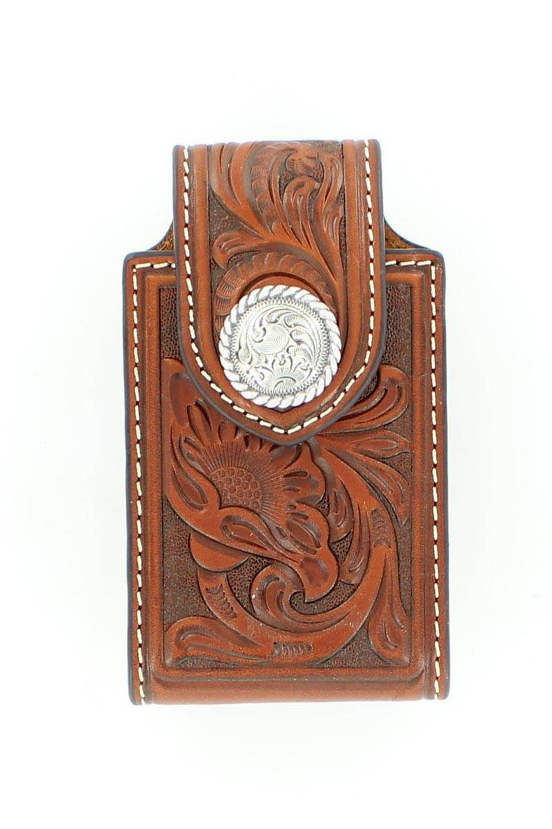 M&F Western Floral Round Concho Iphone Case