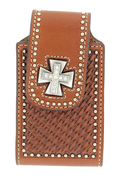 M&F Western Basketweave MalteseCross Iphone Case