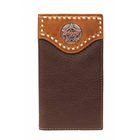 PBR Bullhide Laced Overlay Concho Wallet