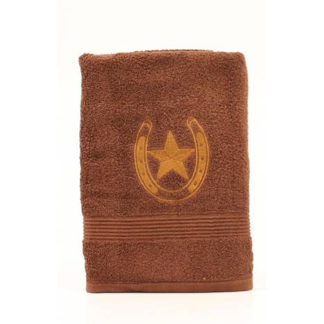 Western Moments Horseshoe Star Bath Towels