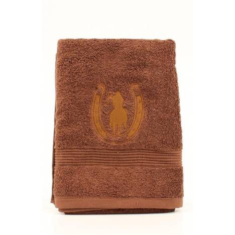 Western Moments Horseshoe Rider Bath Towels