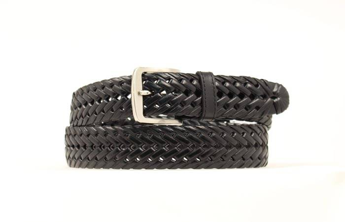 DBL Barrel Braided Leather Belt