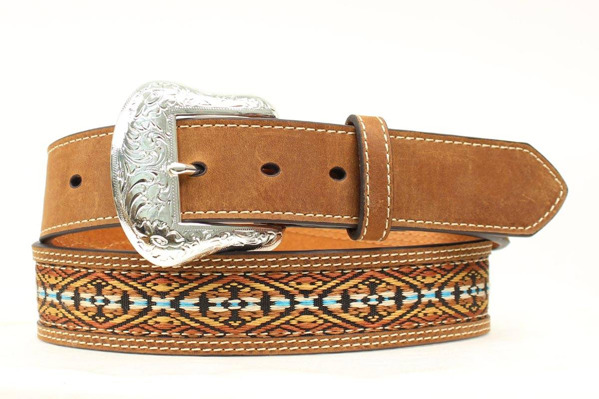 Nocona Southwest Ribbon Inlay Belt