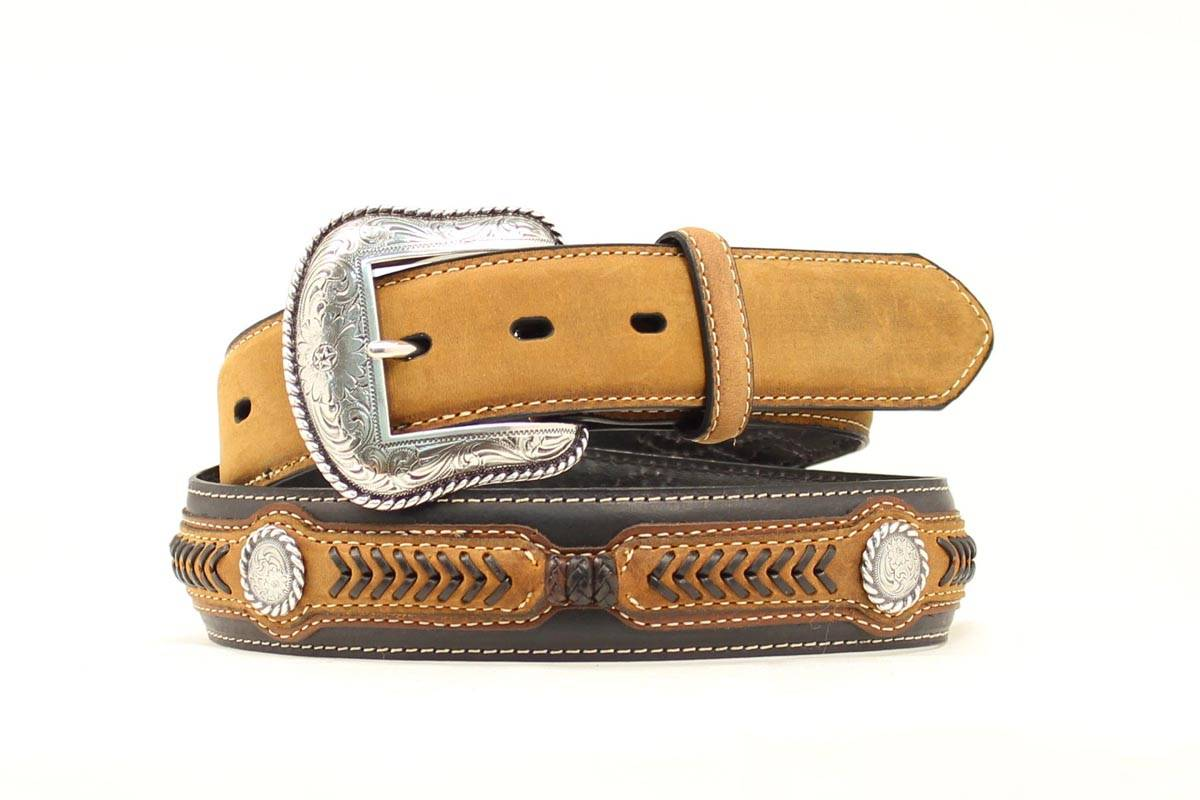 Nocona Arrow Overlay Wrap/Lace Belt