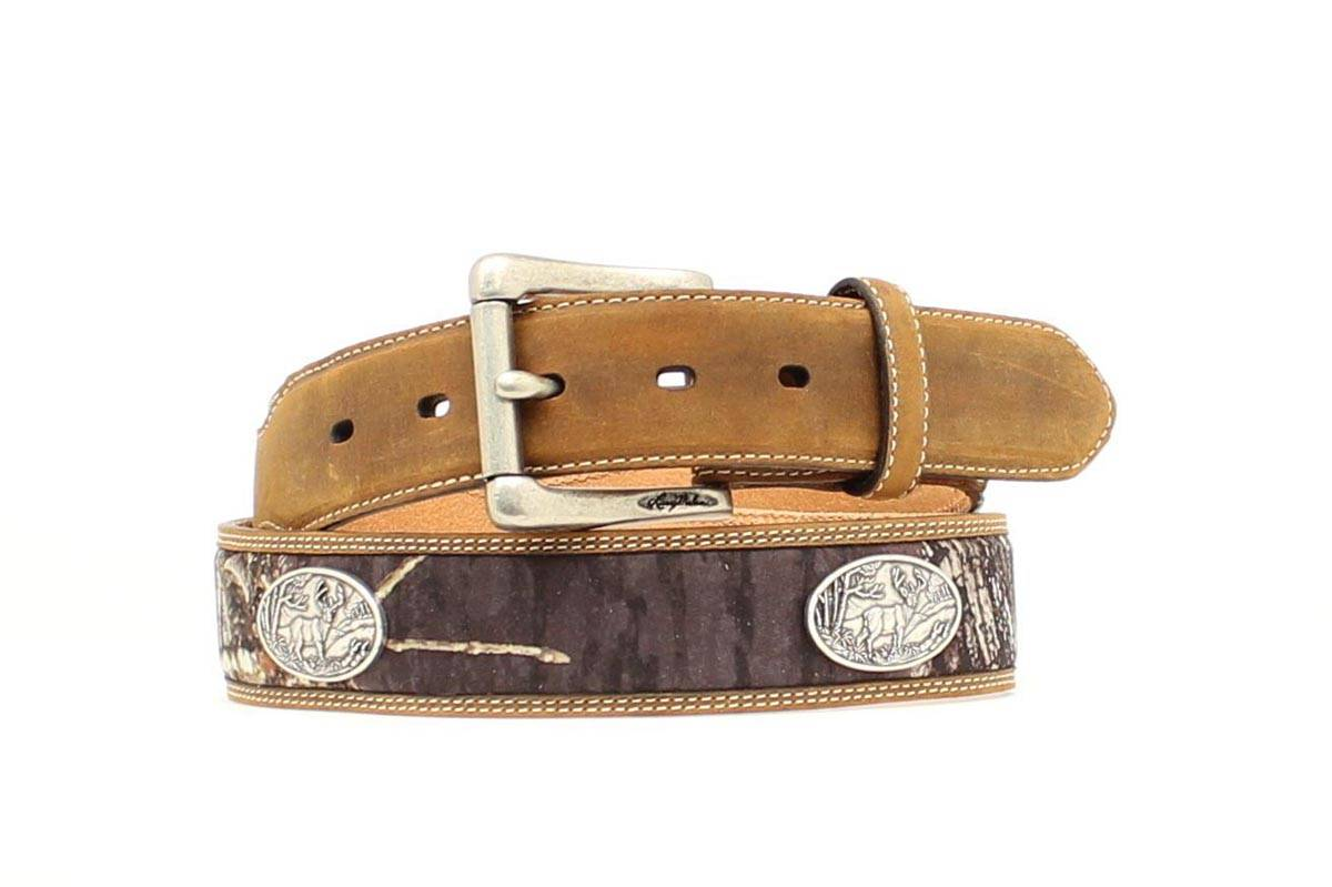 Nocona Camo Inlay Buck Concho Belt
