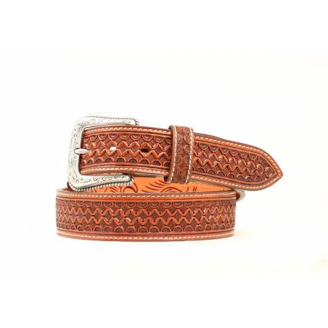 Nocona Tooled Square Basketweave Belt