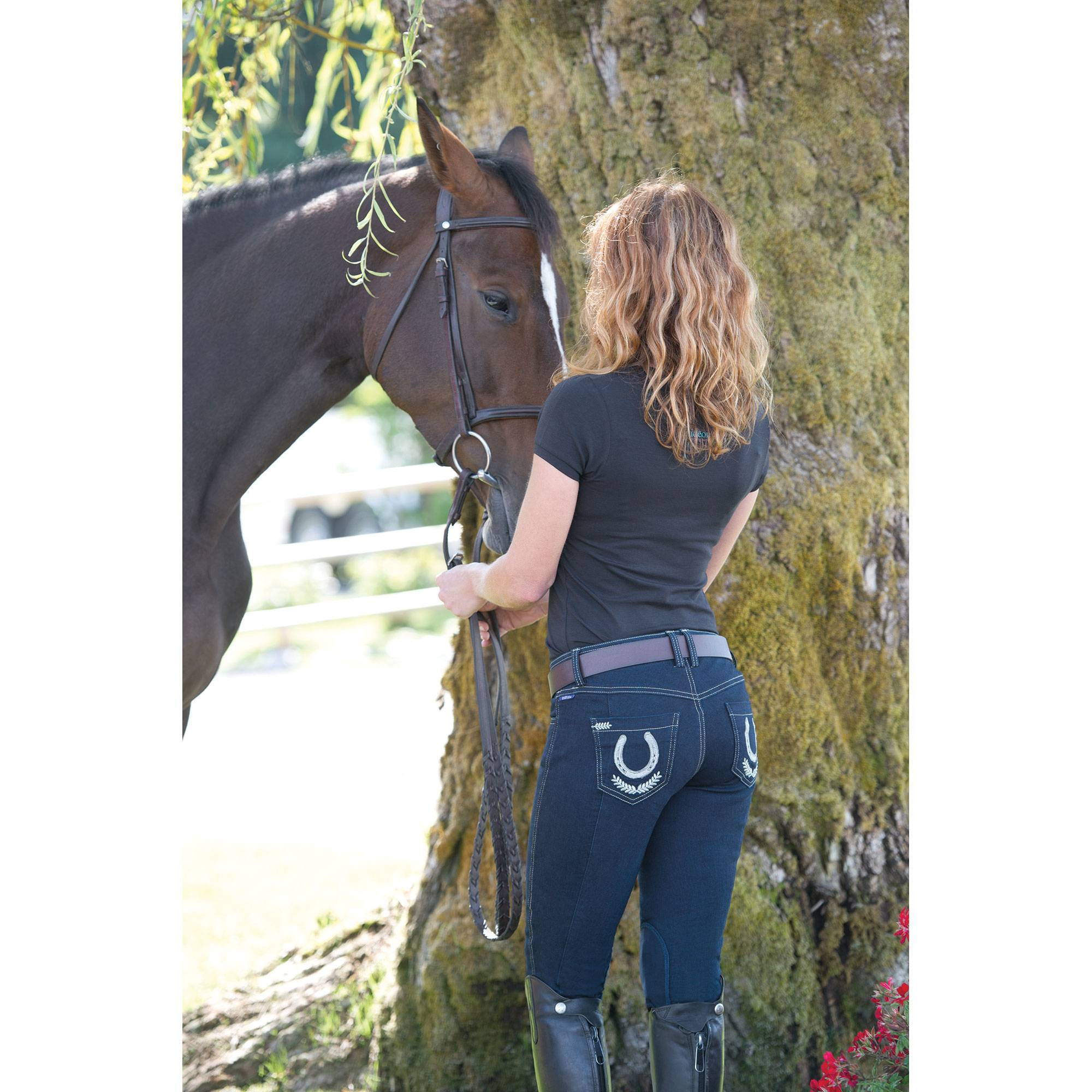 Irideon Verano Denim Horseshoe Pocket Breech
