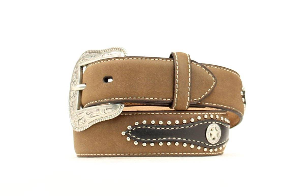 Nocona Boys Tab Star Overlay Belt