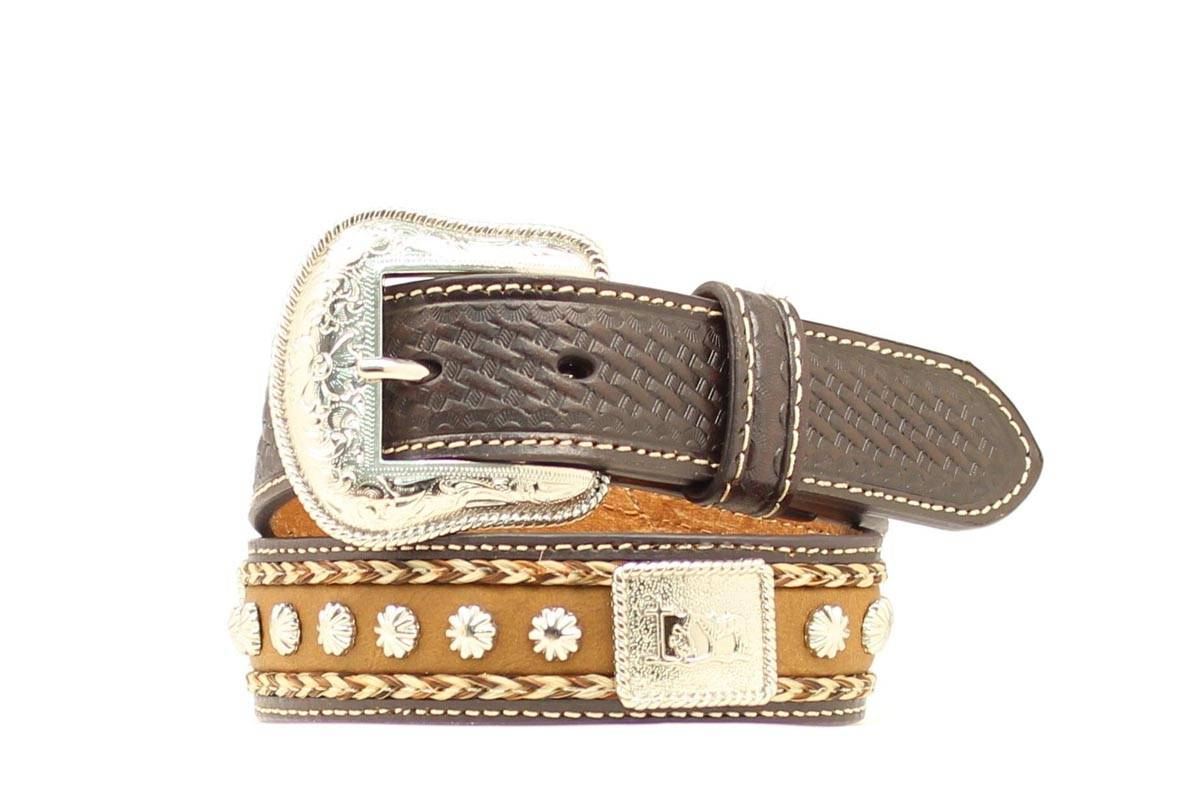 Nocona Boys Cowboy Prayer Concho Belt