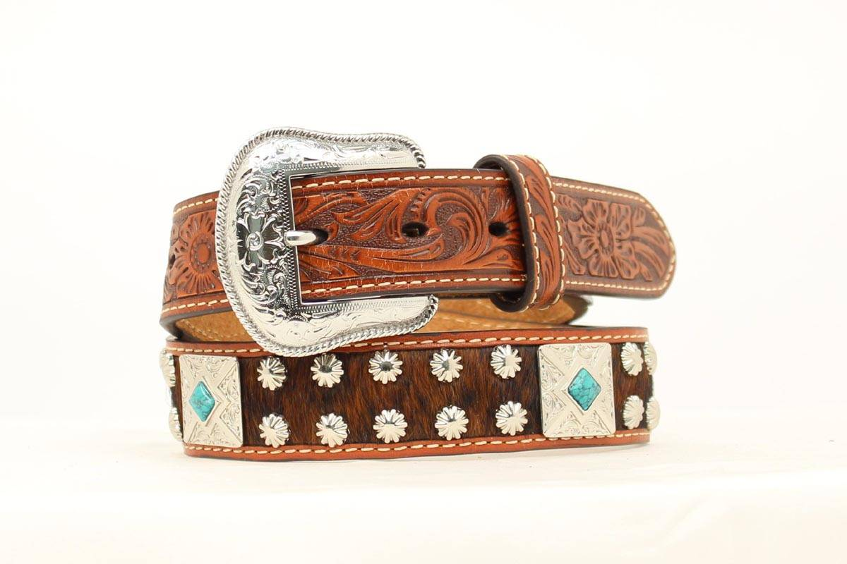 Nocona Boys Hair Square Concho Belt