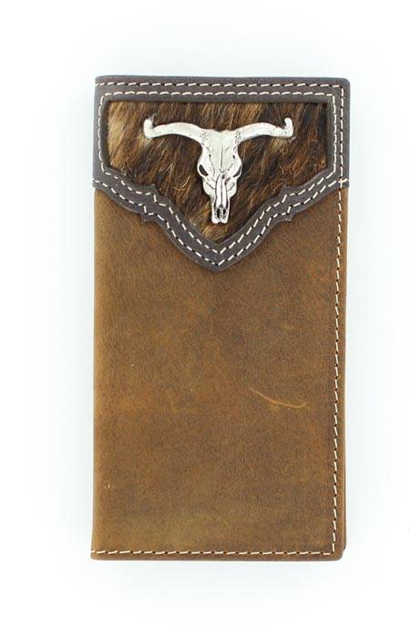 Nocona Youth Longhorn Skull Rodeo Wallet