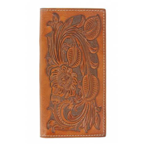 Nocona Pro Floral Tooled Rodeo Wallet