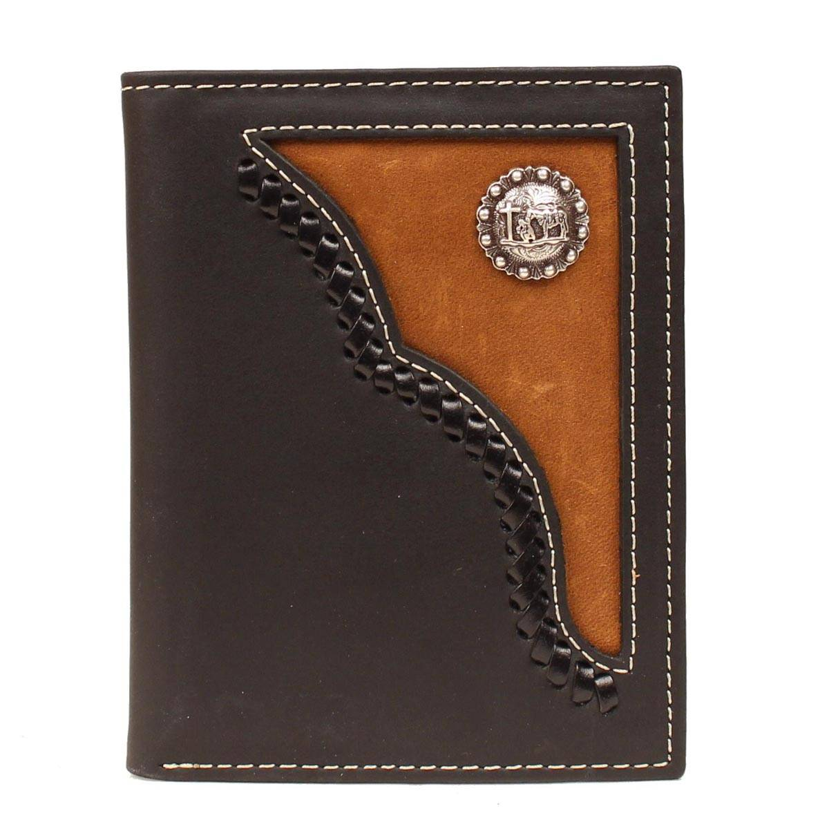 Nocona Bi-fold Lacing Cowboy Prayer Concho Wallet