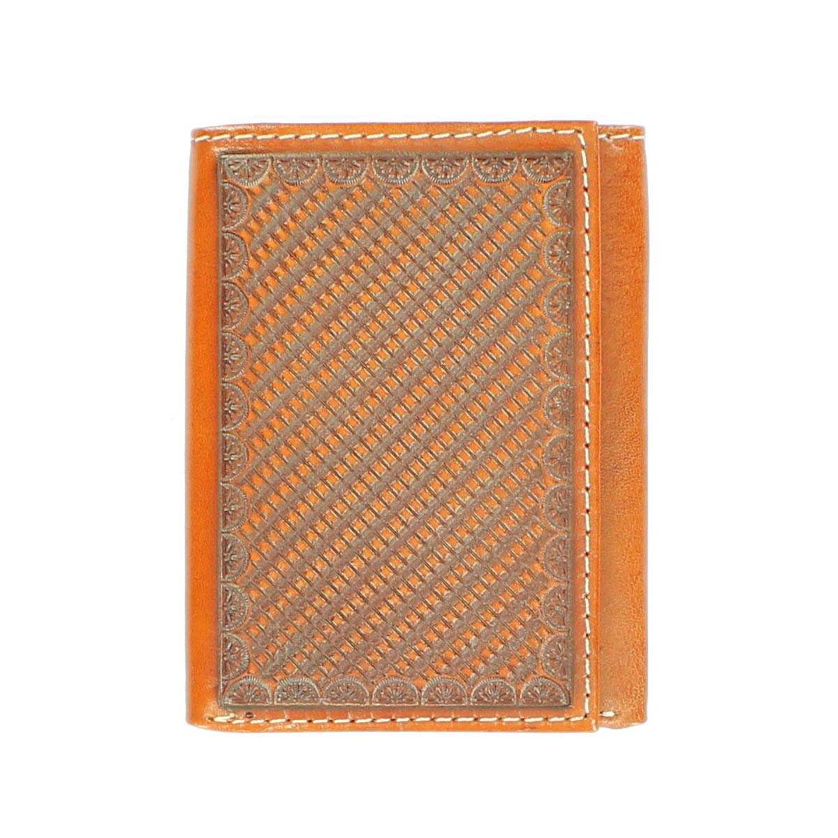 Nocona Stamped Leather Tri-fold