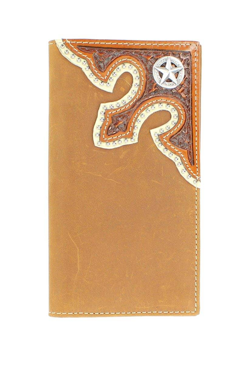 Nocona Rodeo Tooled Overlay Star Wallet