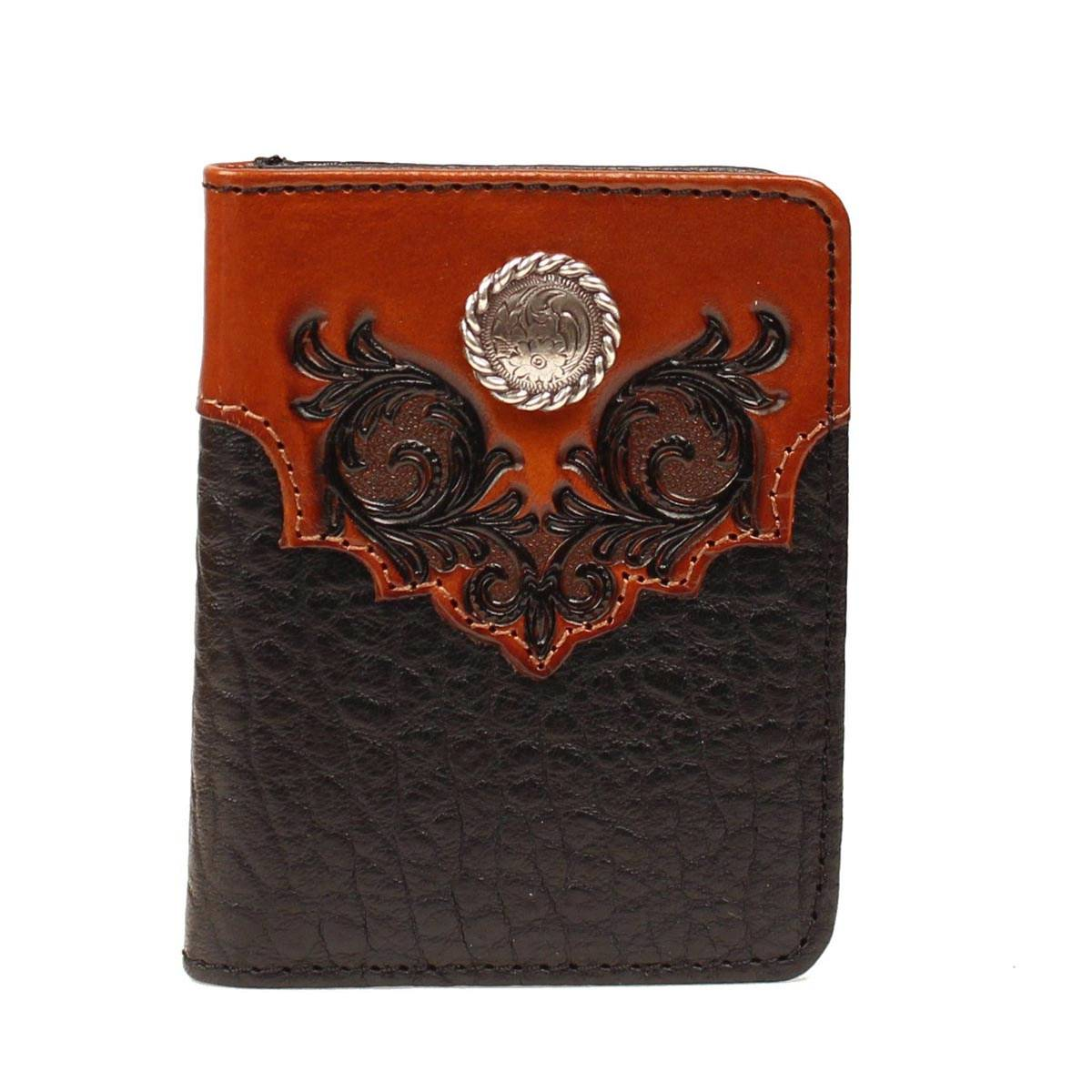 Nocona Bifold Overlay Rope Concho Wallet