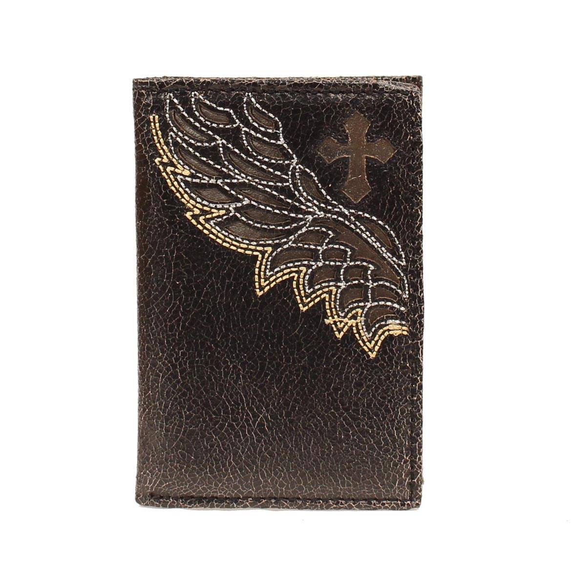 Nocona Tri-fold Cross Wing Cutout Wallet