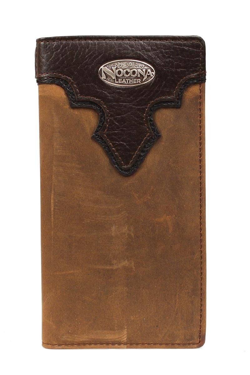 Nocona Rodeo Distressed Overlay Wallet with Logo Concho
