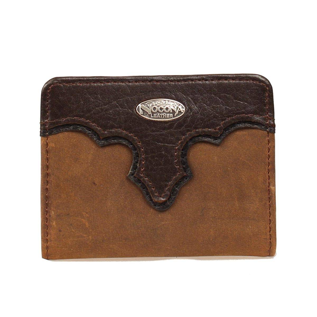 Nocona Bi-fold Distressed Overlay Wallet with Logo Concho