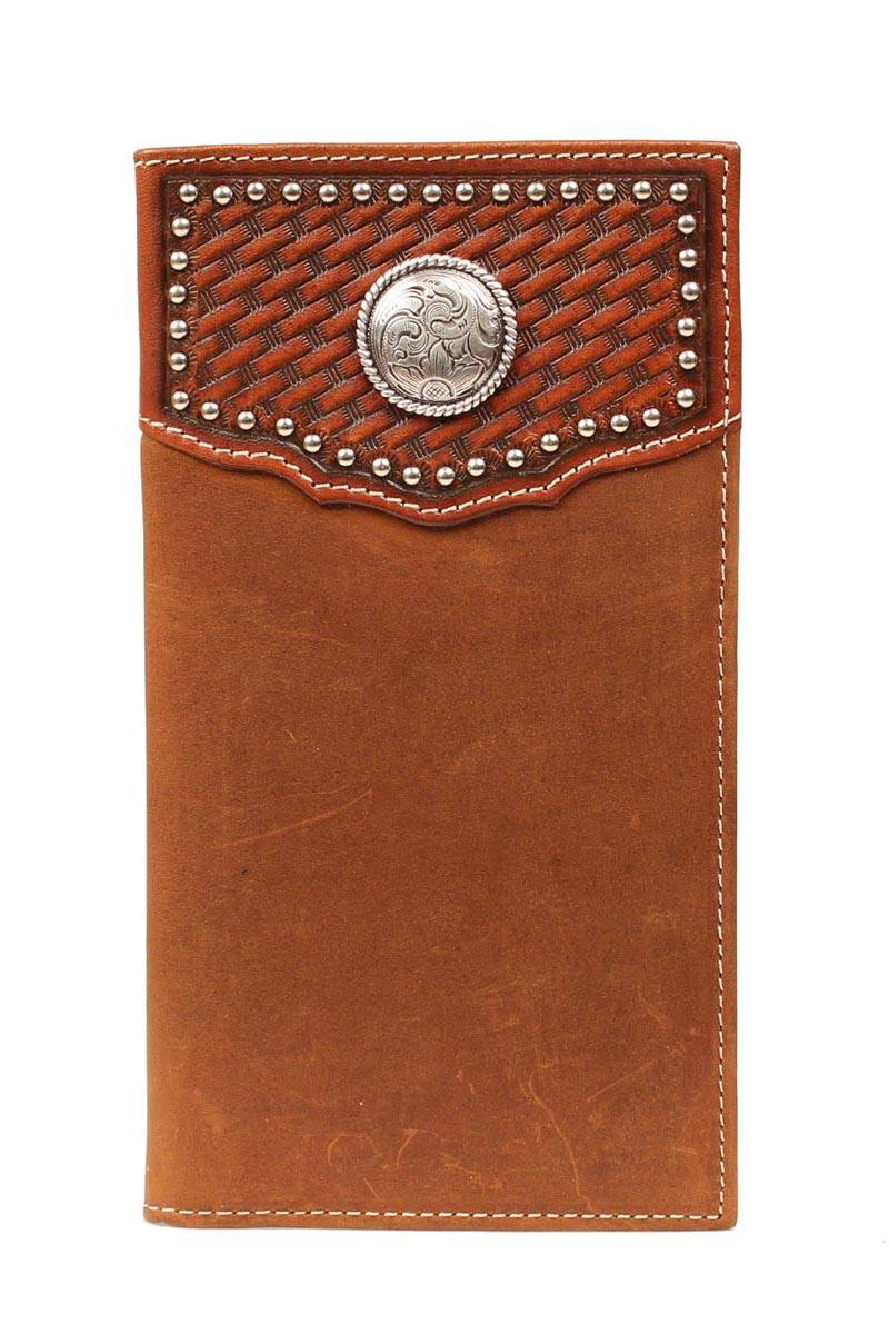 Nocona Rodeo Checkbook Studs & Concho Wallet