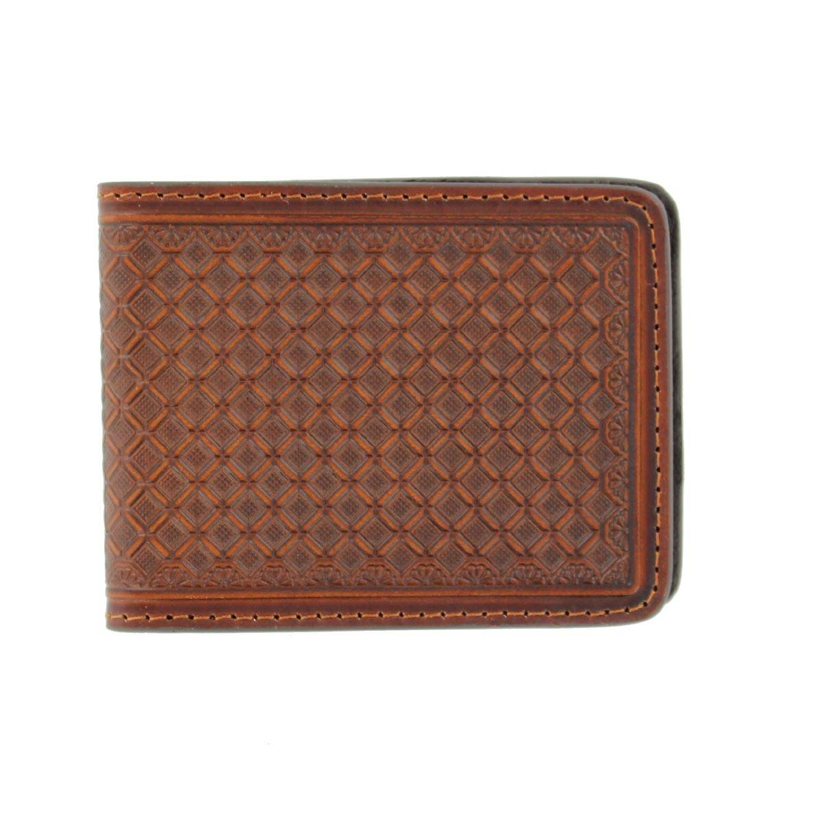 Nocona Tri-fold Stamped Money Clip