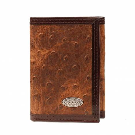 Nocona Mens Tri-fold with Vintage Ostrich