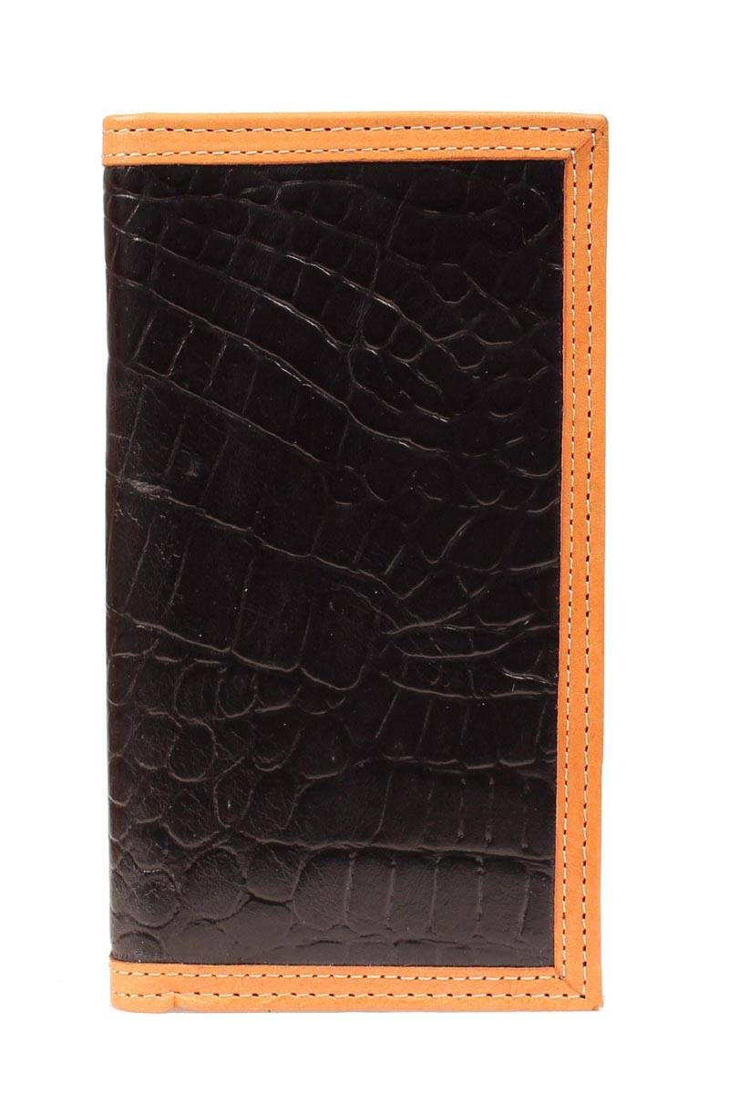 Nocona Rodeo Croco /Leather Trim Wallet