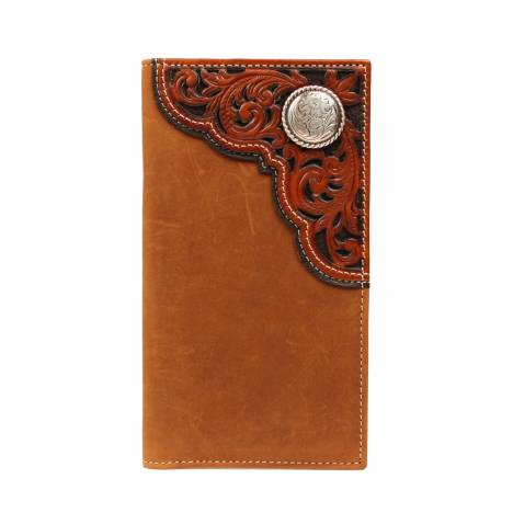 Nocona Rodeo Filigree Tooled Corner & Concho Wallet