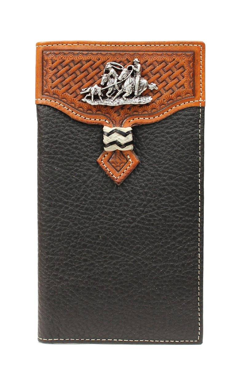 Nocona Rodeo Basketweave with Team Roper Wallet