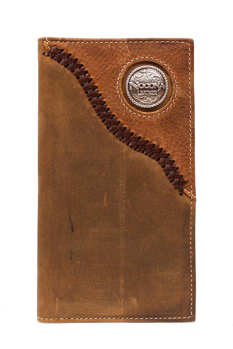 Nocona Rodeo Braided Leather Wallet