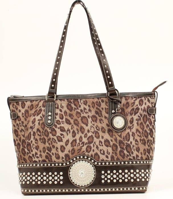Blazin Roxx Leopard Crystal Women's Tote