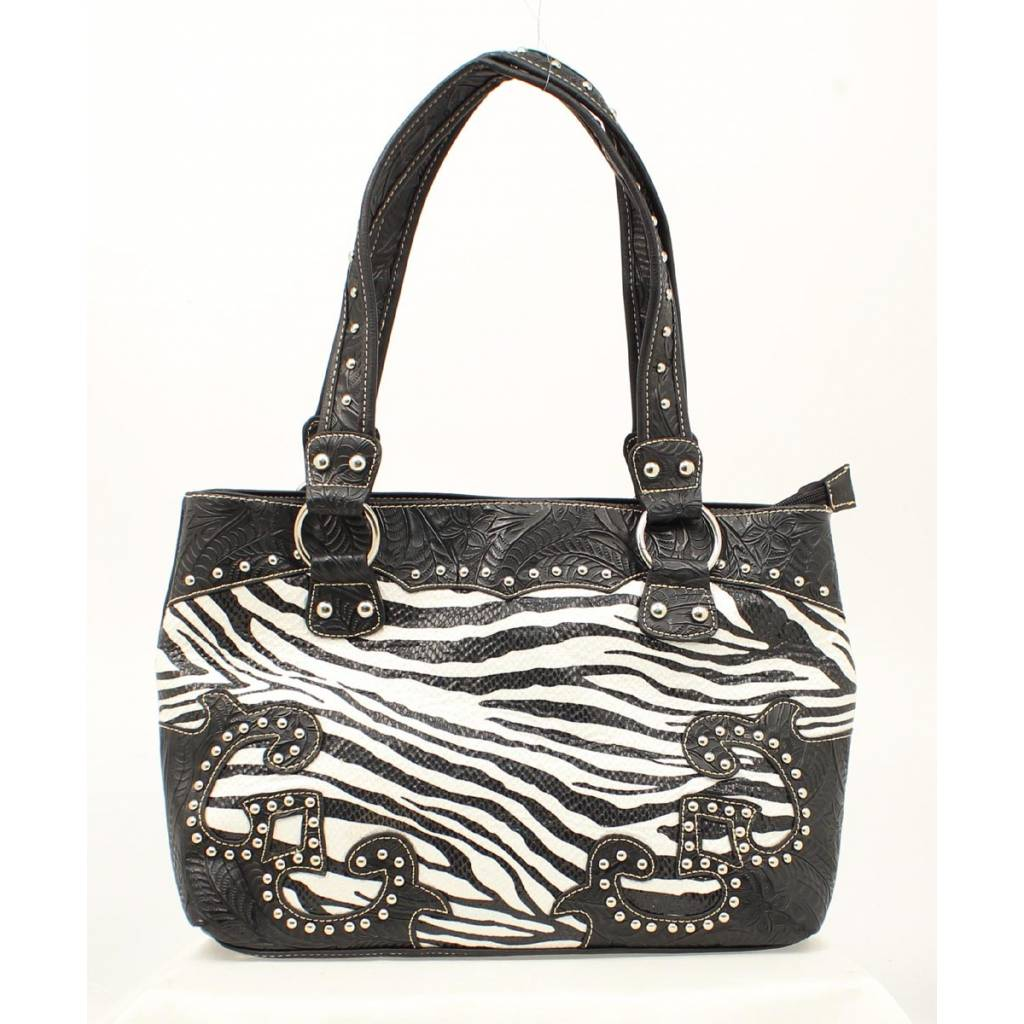 Blazin Roxx Zebra Floral Shoulder Bag