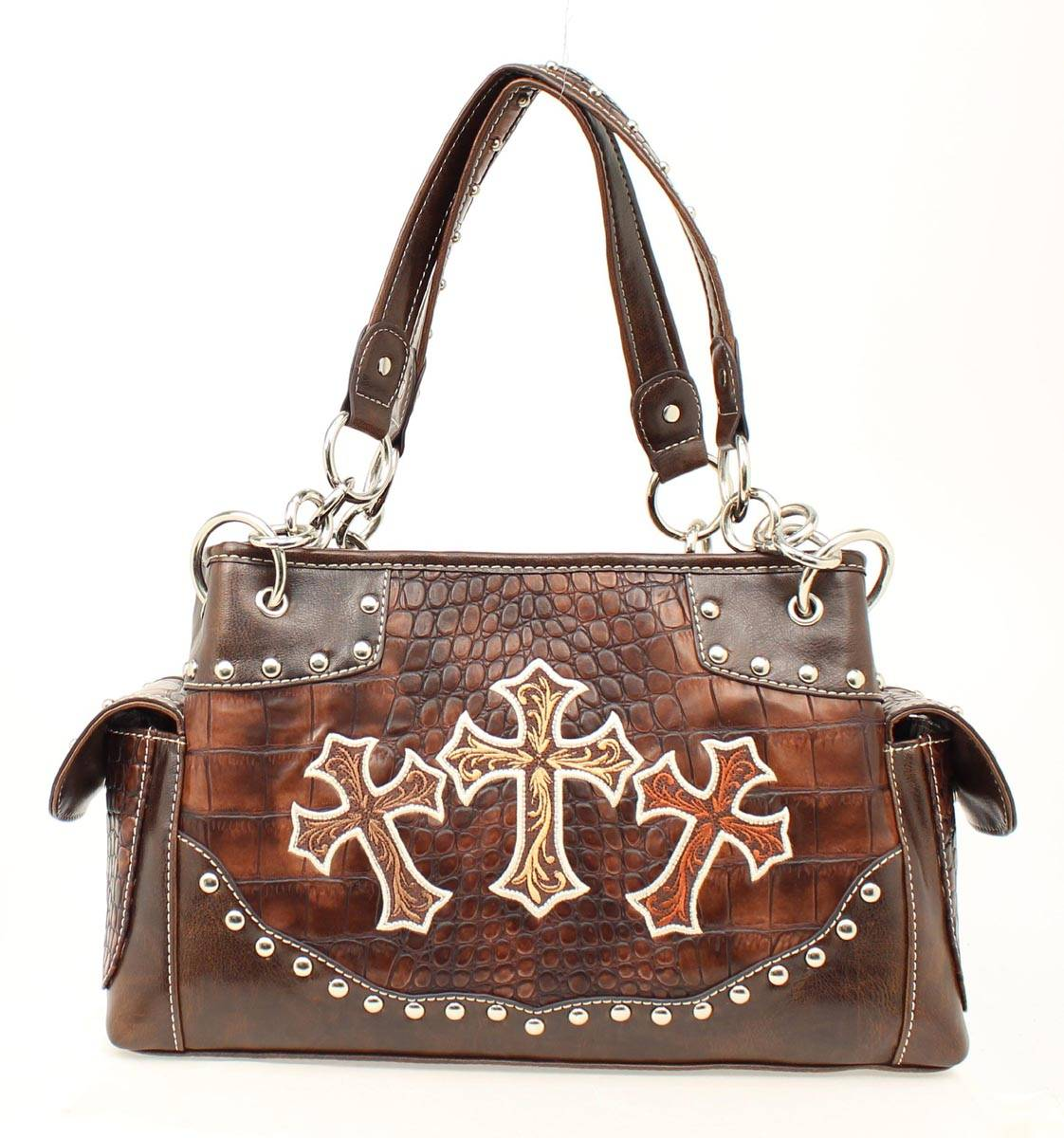 Blazin Roxx Three Crosses Satchel Handbag