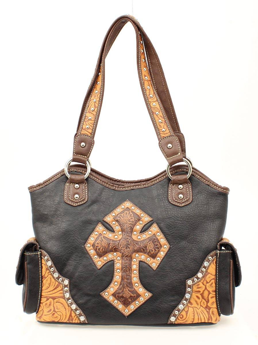 Blazin Roxx Tooled Cross Shoulder Handbag