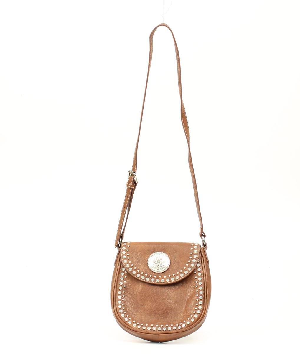 Blazin Roxx Small Biker Crystal Shoulder Bag