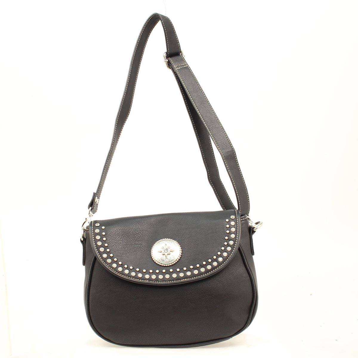 Blazin Roxx Medium Biker Crystal Shoulder Bag