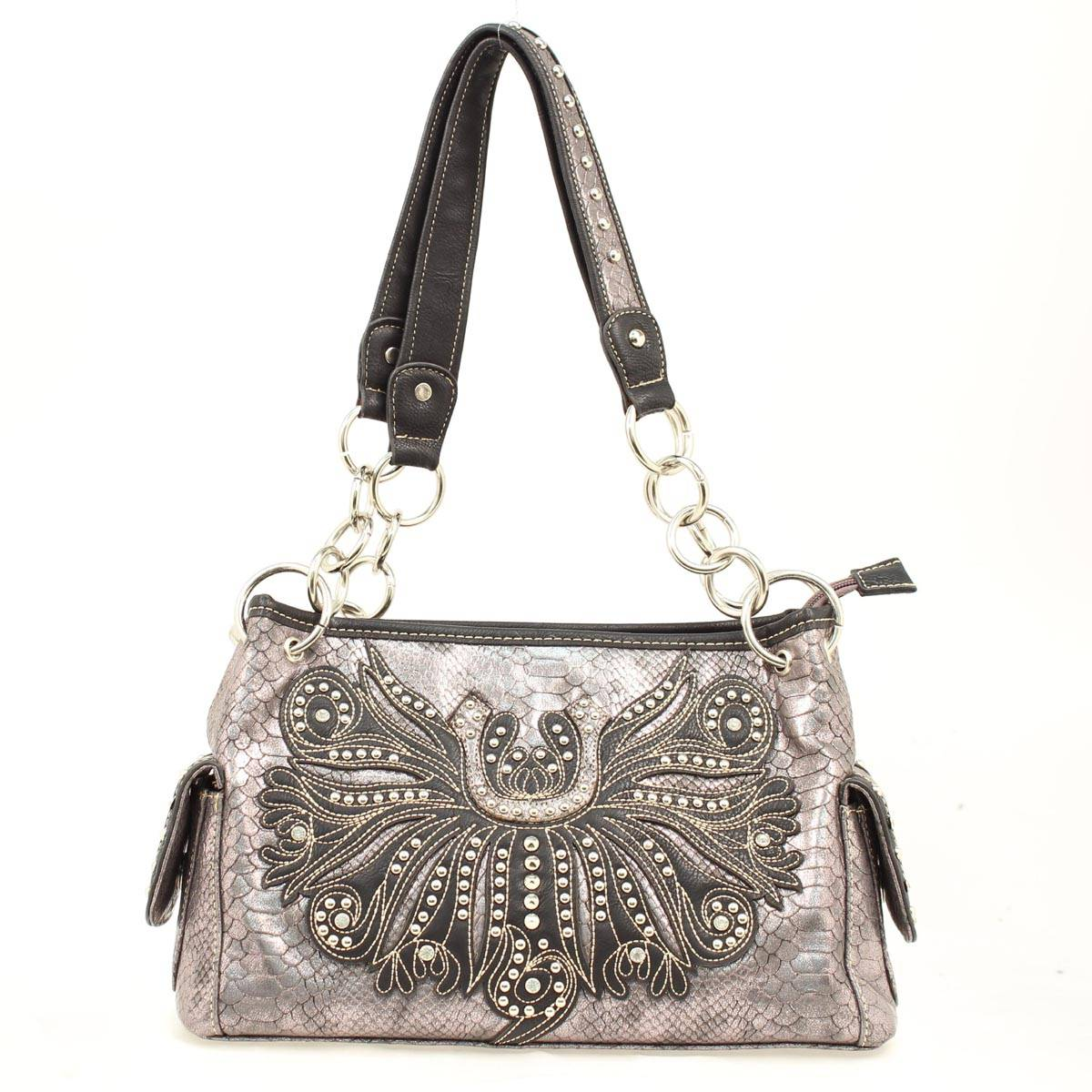 Blazin Roxx Horse Shoe Crystal Detailed Satchel