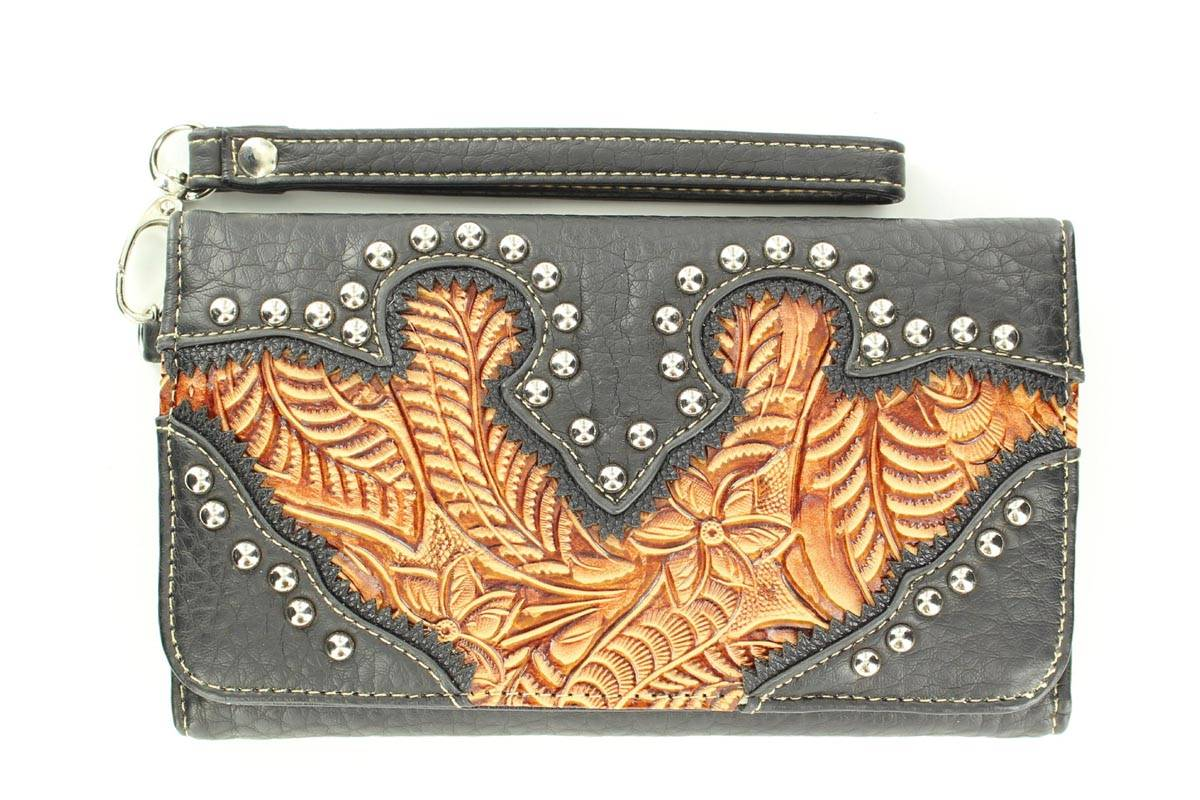 Blazin Roxx Womens Tooled Wallet
