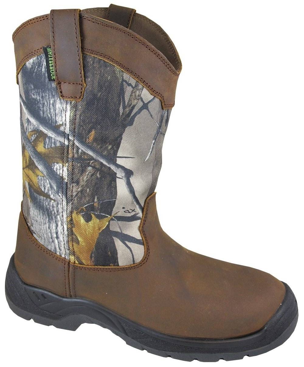 Smoky Mountain Men's BRUSHFIELD Waterproof Steele Toe Boot
