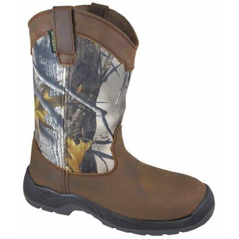 Smoky Mountain Mens BRUSHFIELD Waterproof Steele Toe Boot