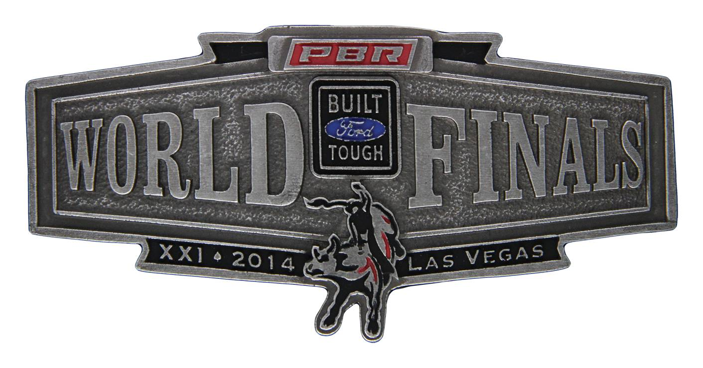 Montana Silversmiths 2014 PBR World Finals Banner Buckle