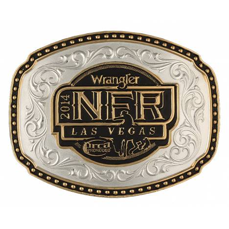Montana Silversmiths 2014 WNFR Two-Tone Hoss Carved Buckle