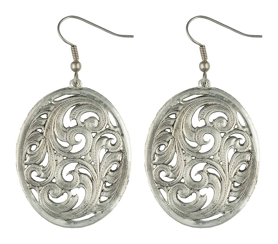 Montana Silversmiths Antiqued Prairie Picture Dangle Earrings